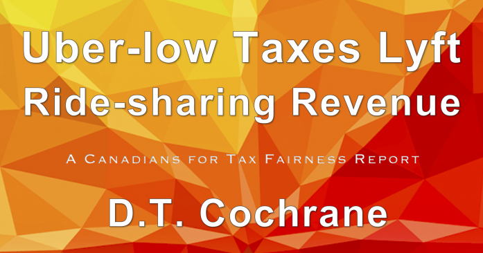 Uber-low Taxes Lyft Ride-sharing Revenue report